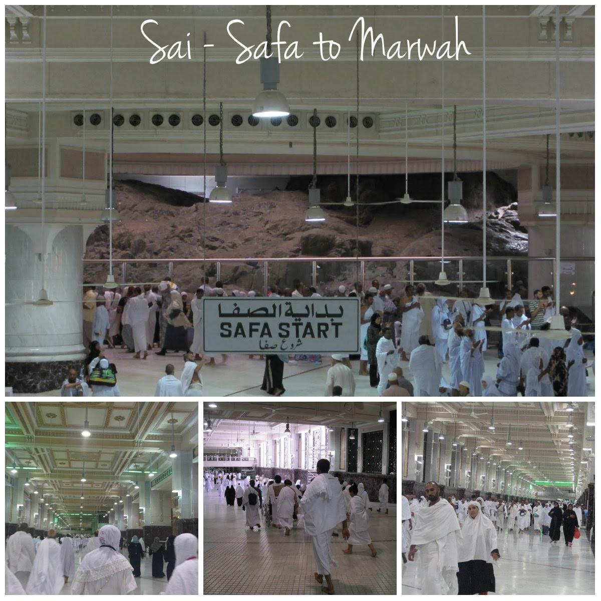 Doa doa dalam ibdaha Sa'i dari bukit Shofa ke bukit Marwah